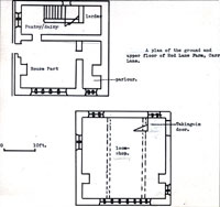 Diagram20: A plan of the ground and upper floor of the Red Lane Farm, Carr Lane.