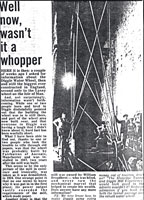 Diagram21: Newspaper clipping about the Diggle Water Wheel.