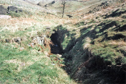 Photo2: The stream at the northern part of the valley at Dean Head.